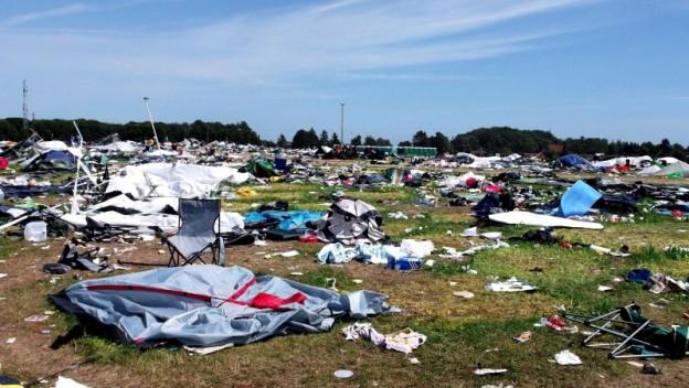 affald roskilde festival